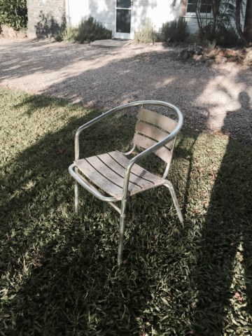 Chair - garden timber $5