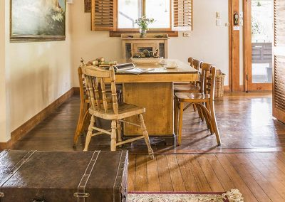 Farmhouse dining area