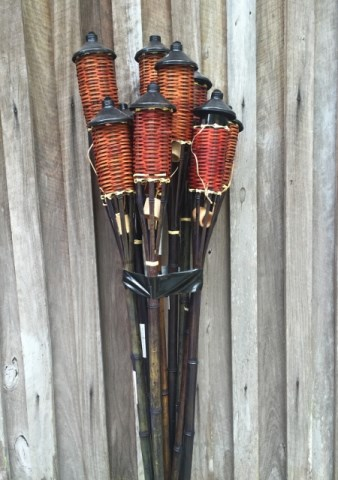 Bamboo garden torches $25