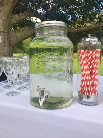 Vintage-style drinks decanter $20