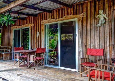 Log Cabin verandah