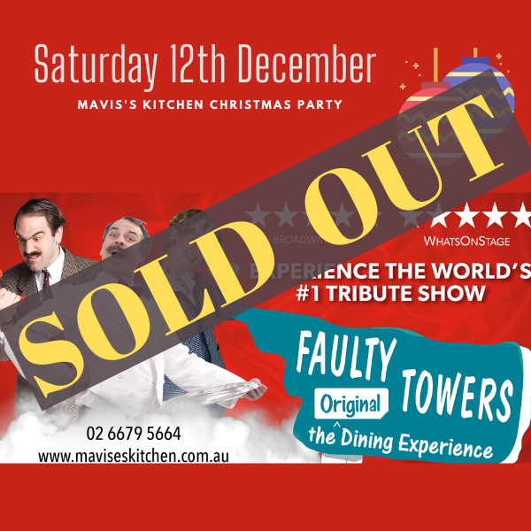 Faulty Towers Dining Experience Saturday 12th December 2020